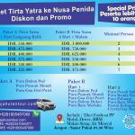 Paket Tirta Yatra Nusa Penida 1 hari dan 2 hari 1 malam