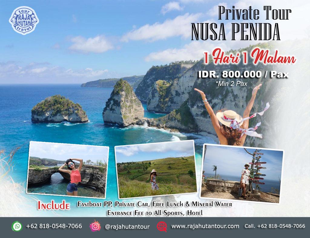 Paket Nusa Penida Tour 1 Hari 1 Malam 800K/Pax